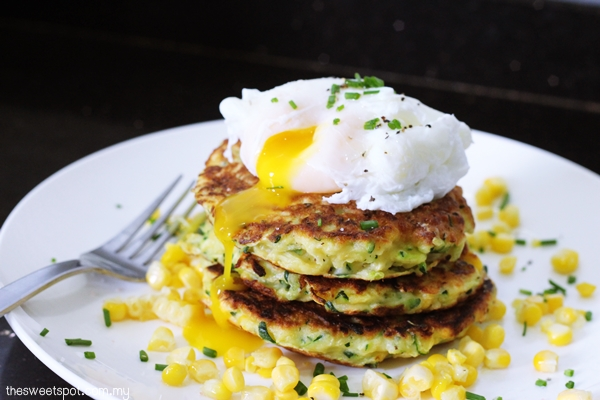 zucchini fritters poached egg 2