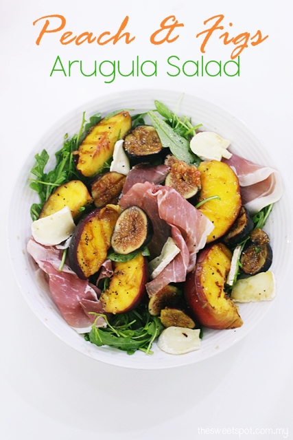 grilled peach and fig salad
