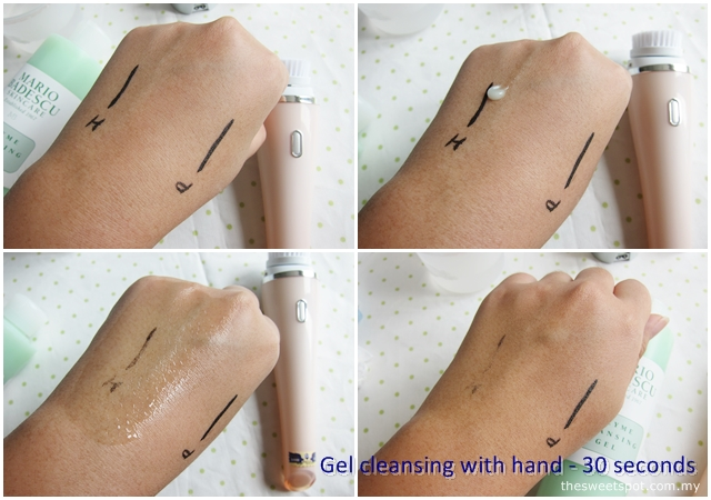gel cleansing with hand
