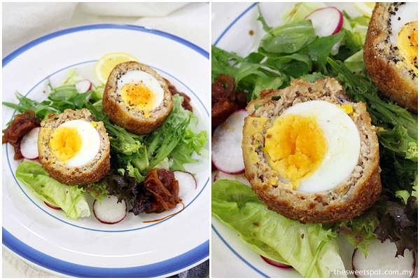 scotch egg with sausage mix