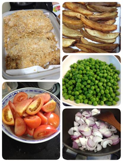 chicken chop prep
