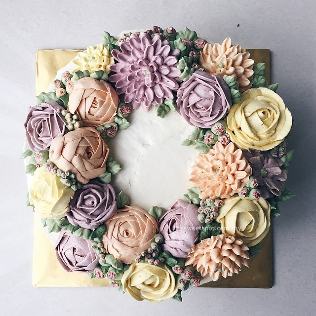 Bespoke Buttercream Flower Cakes The Sweet Spot