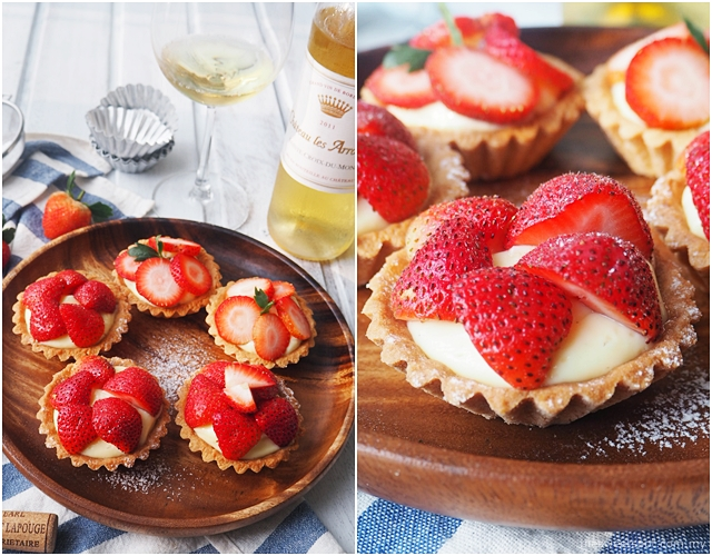 strawberry tartlet wedding winetalk