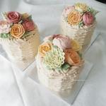 Petite basket flowers