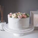 korean buttercream flower cake