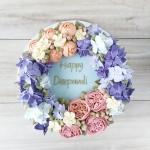 hydrangea wreath design