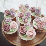 Pink Lilac Cupcakes