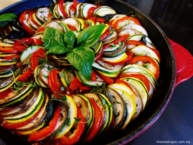 Ratatouille; how Remy would make it.