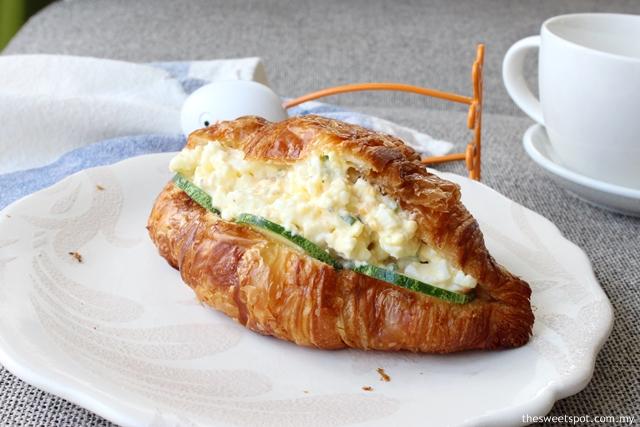 Egg Mayo Croissant Sandwich