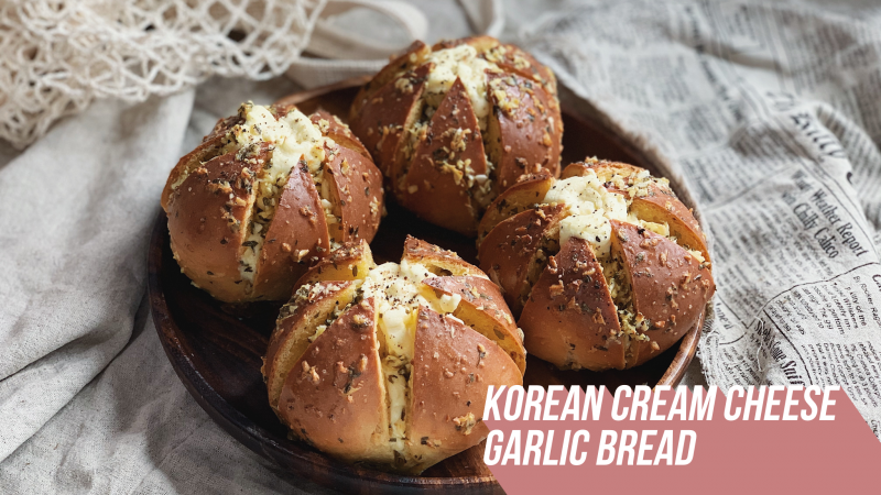 Korean Cream Cheese Garlic Bread